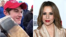 Alyssa Milano Calls Trump's Red MAGA Hats 'The New White Hood'