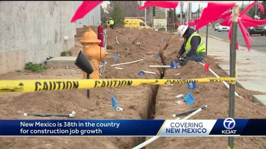 New Mexico 38th in country for construction job growth