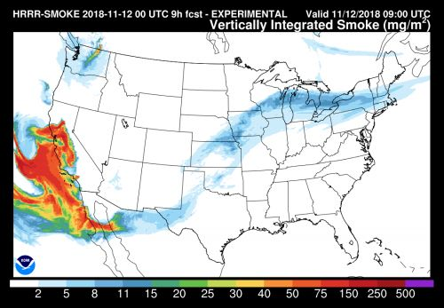 You might smell smoke from raging California wildfires