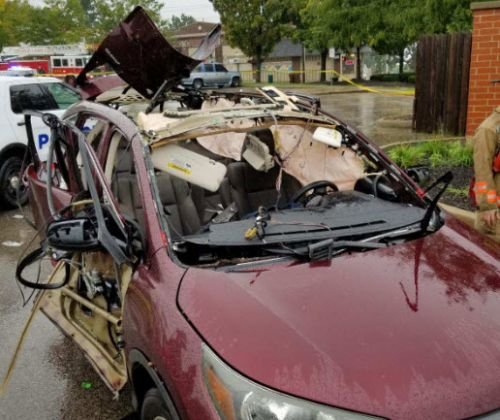 Police: Woman hospitalized after car explodes in Walnut Hills