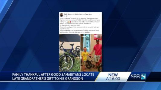 Facebook members come together to locate Iowa kid's stolen bike