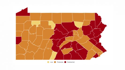 COVID-19 transmission levels in Pa.: Most of western Pennsylvania now 'moderate,' down from 'substantial'