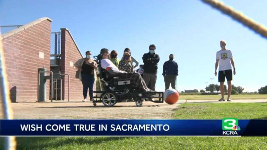 Wish granted: Teen surprised with new power chair to play soccer