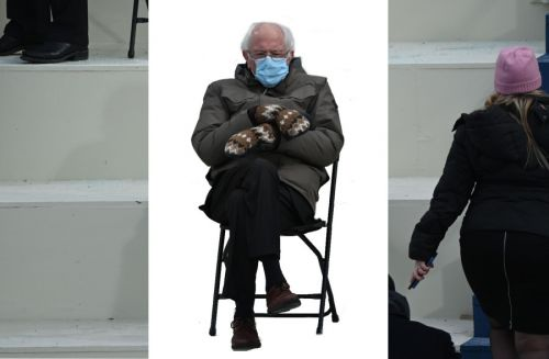 Bernie Sanders' inauguration appearance becomes instant meme