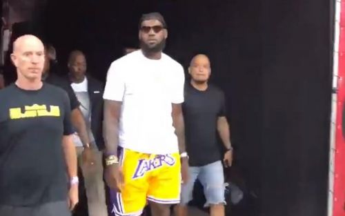 The first look at LeBron James the Laker