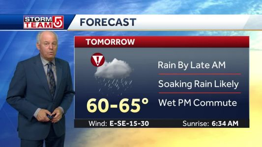 Video: Rain, downpours arrive late Tuesday morning