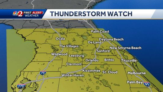 Severe thunderstorm watch issued for Central Florida