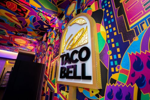 Taco Bell is opening a futuristic restaurant in one of Times Square's oldest buildings. It's filled with food lockers and digital kiosks: take a look inside