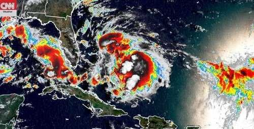 Tropical Storm Humberto lashes Bahamas, seen becoming hurricane
