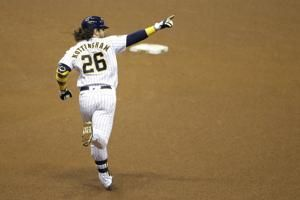 Nottingham's slam helps Brewers rally to beat Royals 9-5