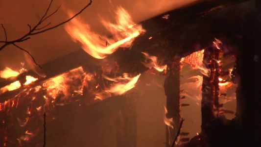 Flames visible from the other side of New Castle as fire destroys home