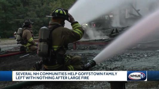 Communities gather in support of family that lost home in Goffstown fire