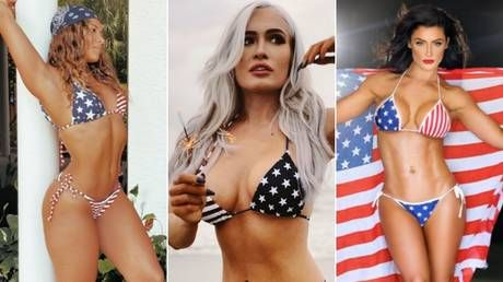 Stars and stripes: MMA and pro wrestling starlets don patriotic colors to celebrate U.S. Independence Day