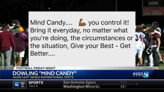 """Dowling assistant coach texts daily """"Mind Candy"""" to players"""