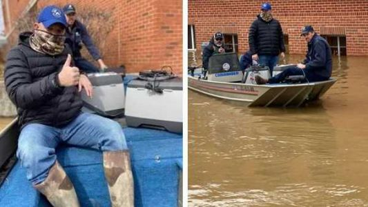 Kentucky crews conduct water rescue to save COVID-19 vaccines from flooded health department