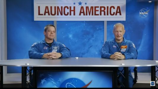 Two NASA astronauts are ready to try something completely new: Ride a SpaceX spaceship