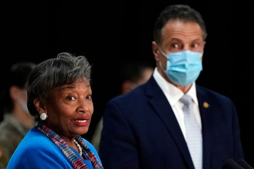 Stewart-Cousins rebuked for standing with Gov. Cuomo after calling for resignation