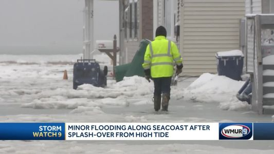 Minor flooding along Seacoast after splash-over from high tide