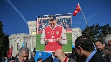 Chinese TV pulls Arsenal game from air after Mesut Ozil statement about Uighur Muslims