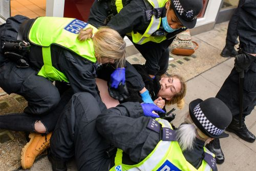 155 arrested in London amid anti-lockdown protests