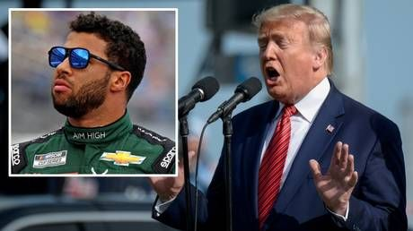 'Has he apologized?' President Trump takes aim at NASCAR driver Bubba Wallace over pit garage noose 'hoax'
