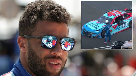 'He thinks he's bigger than the sport': Fans slam Wallace after NASCAR ace drops wrecked bumper onto rival after crash