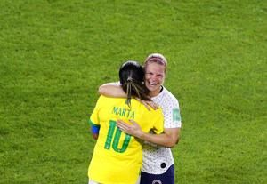 Brazil legend Marta delivers impassioned message to young players after loss to France