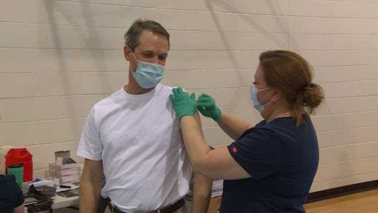 Boone County Schools staff roll up sleeves to receive COVID-19 vaccines