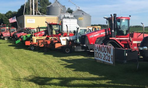 Dozens Of Tractors Line Norseland Highway To Honor Landon Gran, Teen Killed In Farm Accident