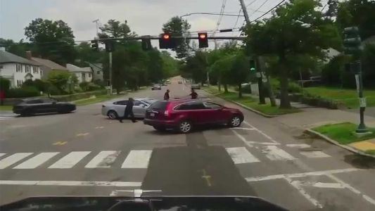 Westwood driver facing charges after police confrontation in middle of road