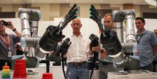Telerobotic hands and fingers become your avatar at Amazon re:MARS
