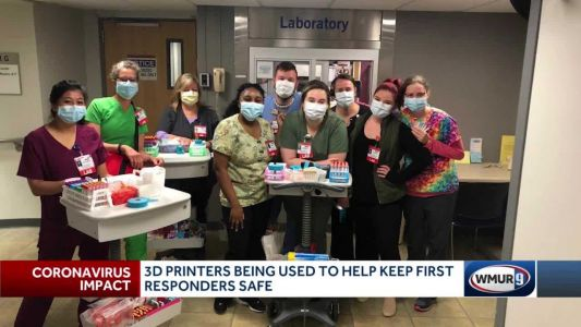 Granite Staters using 3D printers to make face shields for first responders