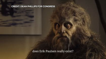 Reality Check: Phillips Ad Finds Bigfoot Looking For Rep. Paulsen