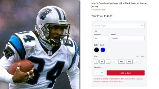 Rae Carruth's name blacklisted from NFL Custom Shop