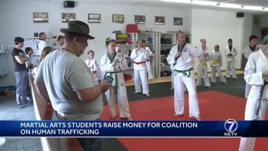 Martial arts students raise money for Coalition on Human Trafficking