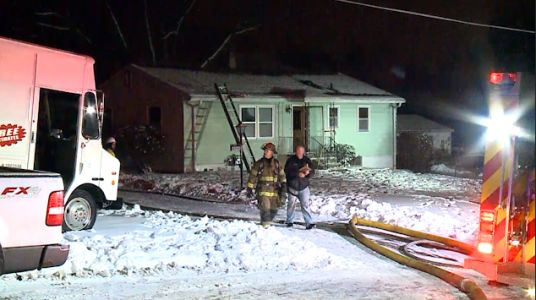 Firefighters battle South Omaha house fire