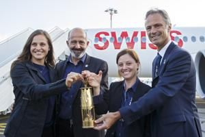 Olympic flame returns to Switzerland for Youth Winter Games