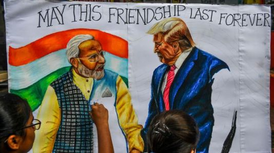 'Namaste Trump!' India Greets U.S. Leader With Epic Party - And Modest Policy Aims