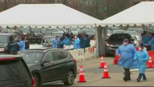 Long lines, led to long wait times for coronavirus testing over holiday weekend