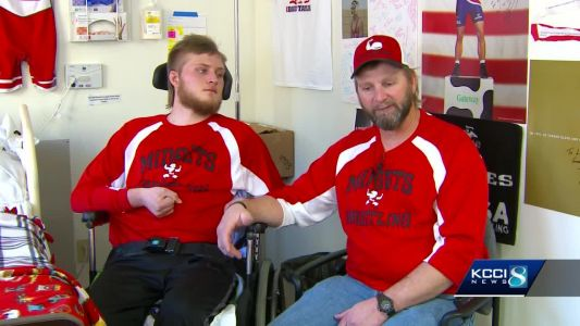 Star athlete wrestles with new challenge after car accident