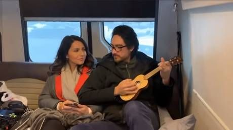 Nothing to kill or die for: Tulsi sings 'Imagine' with husband's backing in tribute to John Lennon