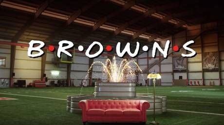 'I'll be there for you!' NFL's Cleveland Browns recreate iconic 'Friends' opening credits