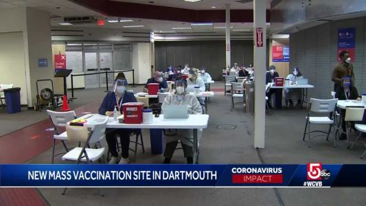 6th mass vaccination site opens in Mass