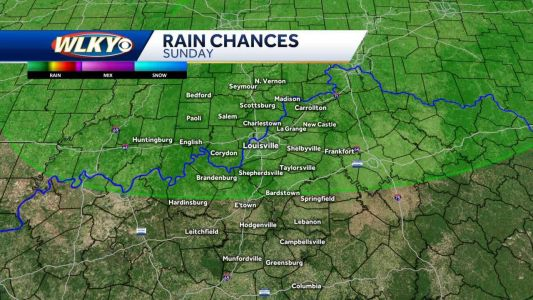 Scattered showers possible Sunday