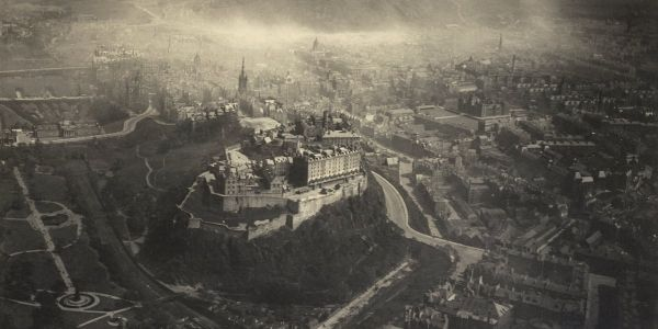 This incredible aerial cityscape from the 1920s was taken by disabled photographer tied to the plane by a scarf