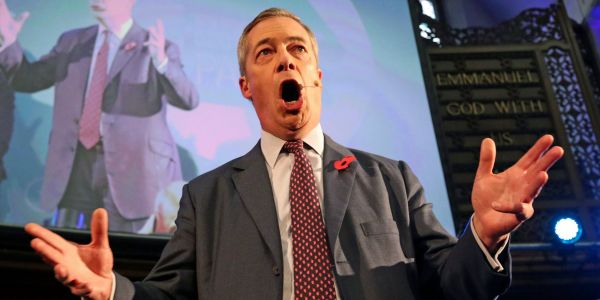 The pound soared on hopes for Tory election wins after Nigel Farage says Brexit Party will stand down in some seats