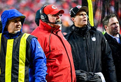Watch: Andy Reid Scolds Chiefs Fans for Throwing Snowballs Onto Field at Arrowhead Stadium