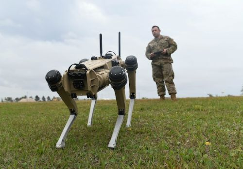 Hanscom AFB teams support testing of AI and 'robotic dogs' at Tyndall AFB