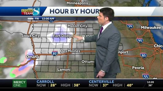 Scattered snow showers before a beautiful weekend