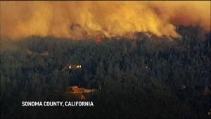 Wildfires erupt in northern California wine country